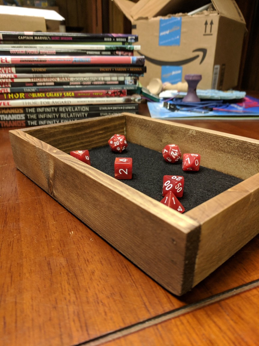 DIY Dice Rolling Tray – Less Than$6